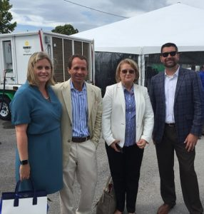 Left to right: Leigh Fletcher, Marc Mariano, Barbara Hammock and Ben Smith at the Mosaic Grand Opening in Kissimmee, FL.